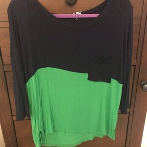 3/4 Sleeve Top with Front Pocket